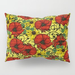 Poppy forget me not Pillow Sham