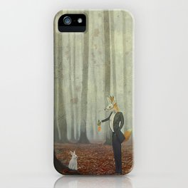Fox and rabbit iPhone Case