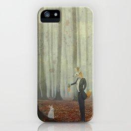 Fox and rabbit iPhone Case