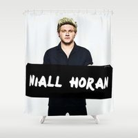 niall horan Shower Curtains featuring Niall Horan by girllarriealmighty