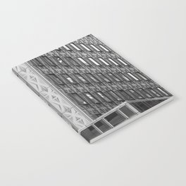 Geometric New York Architecture in Black and White Notebook