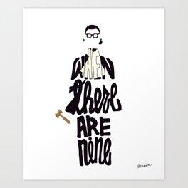 Ruth Bader Ginsburg Quote Art Print