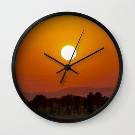 Atardecer 1 Wall Clock