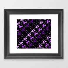 Witches Starry Night Pattern Framed Art Print