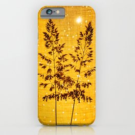 Delicate grasses - light and shadow #1 iPhone Case