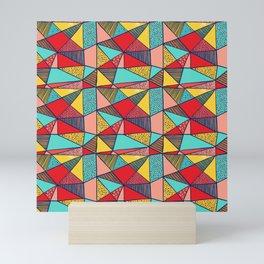 Colorful Geometric Abstract Pattern Mini Art Print