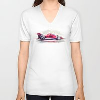 racing V-neck T-shirts featuring racing car2 by tatiana-teni