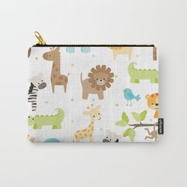 Jungle Animals Carry-All Pouch