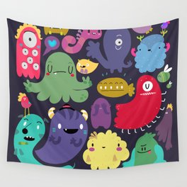 Colorful creatures Wall Tapestry