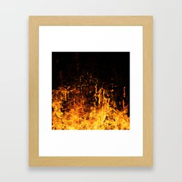 Hot Stuff / Let it burn Framed Art Print