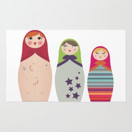 Russians Dolls whoops !  Rug