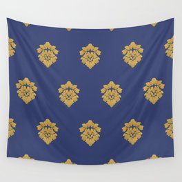 Free Marches (Blue) Wall Tapestry