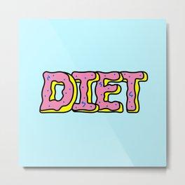 Donut Diet Metal Print