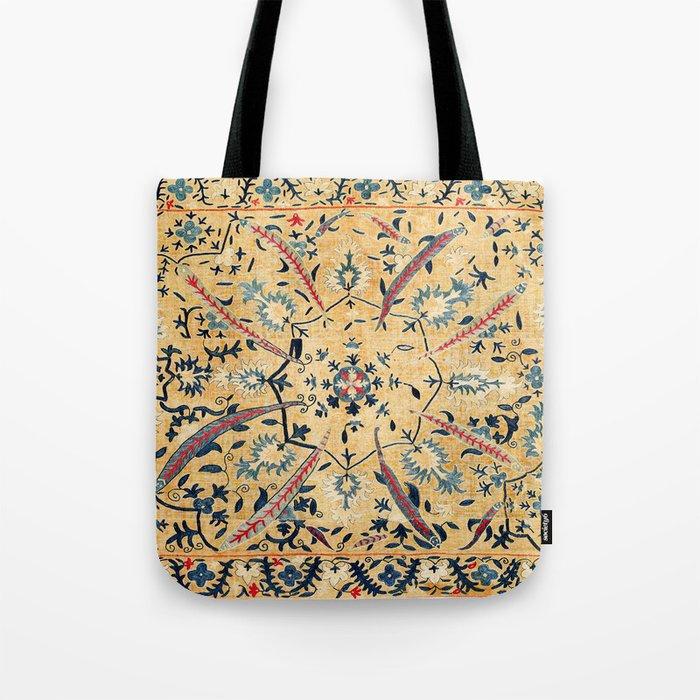 Kermina  Suzani  Antique Uzbekistan Embroidery Print Tote Bag