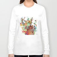 archan nair Long Sleeve T-shirts featuring Anemones Blooming by Archan Nair