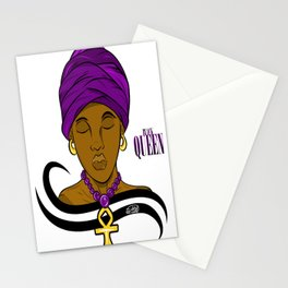 Black Queen  Stationery Cards