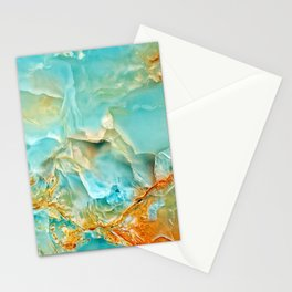 Onyx - blue and orange Stationery Cards