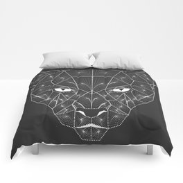 Panther Puma Black Zentangle Comforters