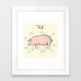Anatomy of a Pig Framed Art Print