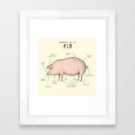 Anatomy of a Pig Framed Art Print