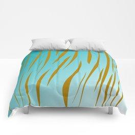 Design exotic vint. lines - gold, blue Comforters