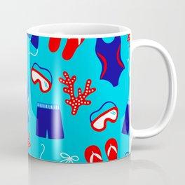 Summer Swim Party Pattern Coffee Mug