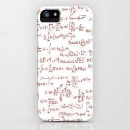 Red Math Equations iPhone Case