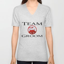 Team Groom DareDevil Unisex V-Neck