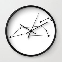 Leo Astrology Star Sign Minimal Wall Clock