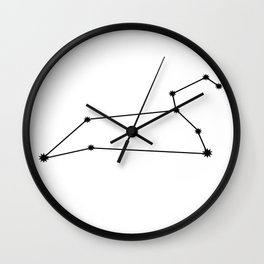 Leo Star Sign Black & White Wall Clock