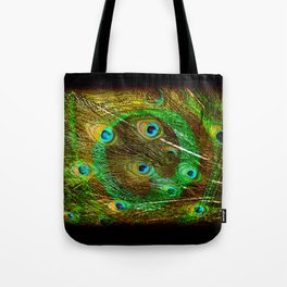 The Peacock Dream In Gold Tote Bag