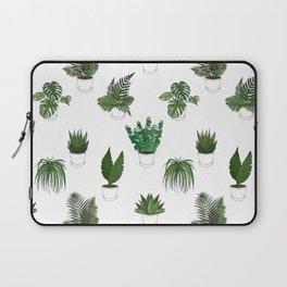 Houseplants Illustration (white background) Laptop Sleeve