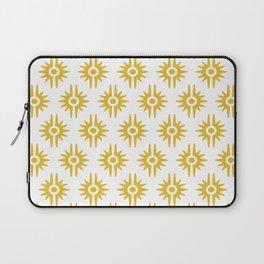 Mid Century Modern Bang Pattern 272 Must Yellow Laptop Sleeve