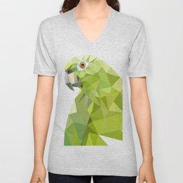 Green parrot Geometric Unisex V-Neck