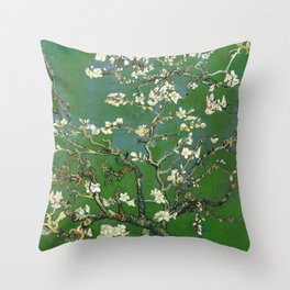 Almond Blossom - Vincent Van Gogh (avocado pastel) Throw Pillow