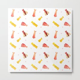 Paper Doll Pattern Metal Print