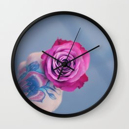 Roses on my mind Wall Clock