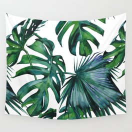 Tropical Palm Leaves Classic II Wall Tapestry