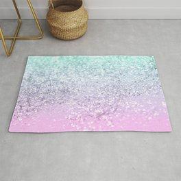 Mermaid Girls Glitter #2 (2019 Pastel Version) #shiny #decor #art #society6 Rug
