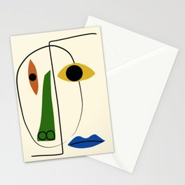 Abstract portrait 002 Stationery Cards