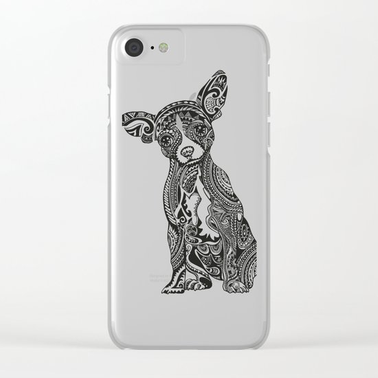 Polynesian Chihuahua Clear iPhone Case