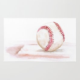 Baseball Watercolor Rug