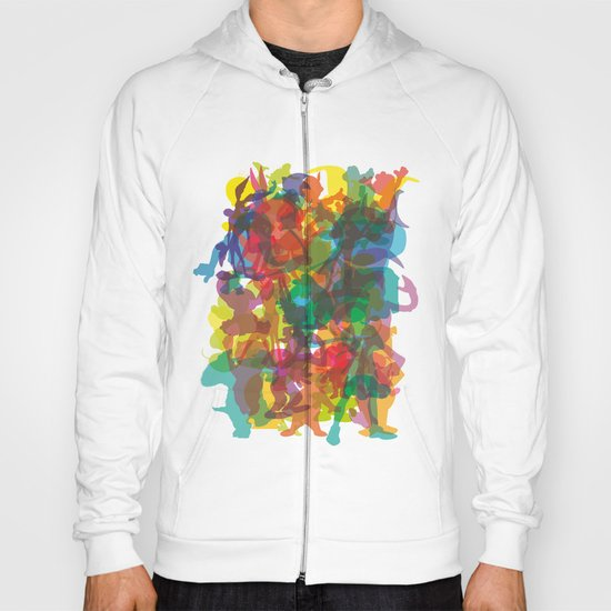 50 famous characters (solid) Hoody