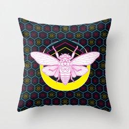 Geometric Cicada Throw Pillow