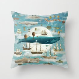 Ocean Meets Sky - from picture book Throw Pillow
