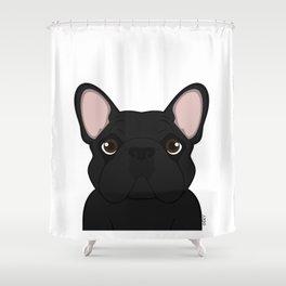 Frenchie - Black Brindle Shower Curtain