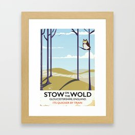 stow on the wold vintage travel poster Framed Art Print