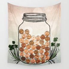Lucky Pennies Wall Tapestry