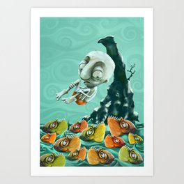 Take a Risk! - Piranhas Art Print