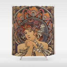 LYGIE Alphonse MUCHA Shower Curtain